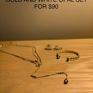 Jewelry - Kendra Scott Gold, pave, and opal set